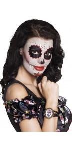 Bracelet Cavalera avec médaillon tête de mort Halloween