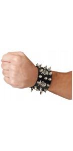 Bracelet Têtes de Mort et Picots Halloween