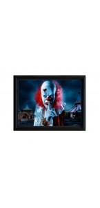Cadre 3D Holographique Clown Halloween 45x35 cm