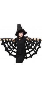 Cape araignée Halloween noire