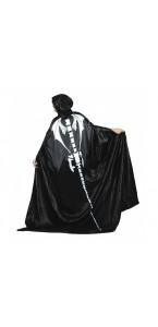 Cape imprimé squelette blanc