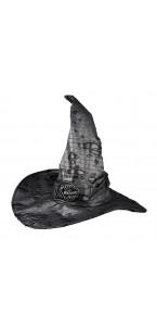 Chapeau de sorcière argent métallique Halloween