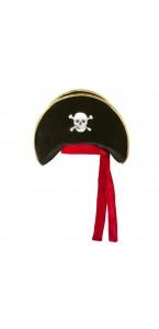 Chapeau Pirate Anne avec un ruban rouge