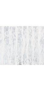 Chemin de table de Noël neige/argent 28 cm x 3 m