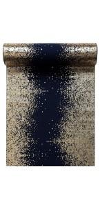 Chemin de table éclats métallisés bleu