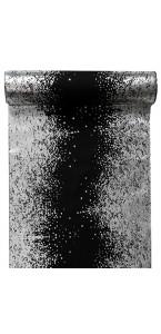 Chemin de table éclats métallisés noir
