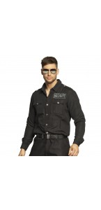 Chemise noire pour agent de sécurité