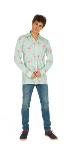 Chemise Flamant rose homme