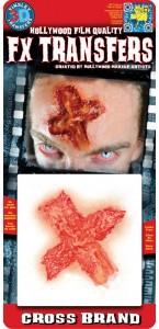 Cicatrice Plaie en croix Halloween 3D