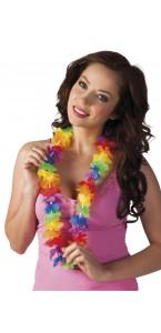 Collier hawai multicolore