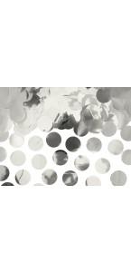 Confettis rond lamés argent 15 gr
