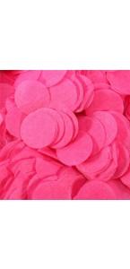 Confettis ronds fuschias en papier