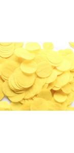 Confettis ronds jaune en papier