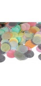 Confettis ronds pastel en papier
