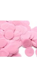 Confettis ronds rose en papier