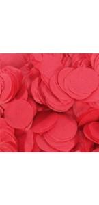 Confettis ronds rouge en papier