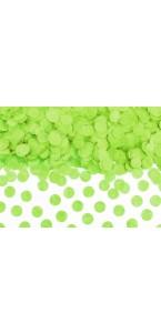 Confettis ronds vert lime en papier diam 1,6 cm