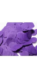 Confettis ronds violet en papier