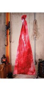 Corps ensanglanté dans un sac Halloween