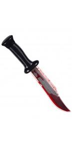 Couteau de chasse ensanglanté Halloween
