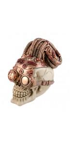 Crâne résine SteamPunk Halloween 11,7 x 17,3 x 16,5 cm