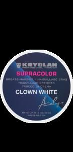 Crème de maquillage clown blanc professionnel Kryolan 30 g