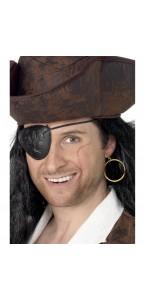 Cache-œil pirate + boucle d'oreille