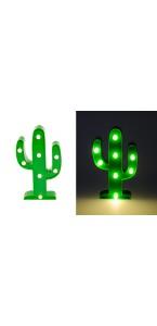 Cactus 8 leds 25,5 x 14,5 x 3 cm