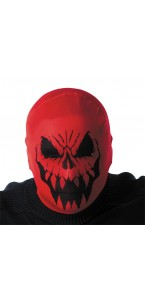 Cagoule monstre rouge Hallloween