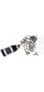 Canon à confettis forme bouteille paillette noire