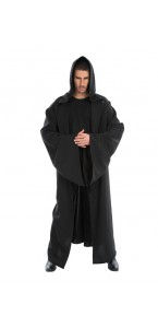 Cape chevalier knight noire adulte Halloween 180 cm