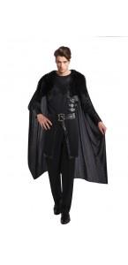 Cape de chevalier marron avec fourrure luxe Halloween 155 cm