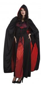 Cape de vampire avec capuche reversible rouge