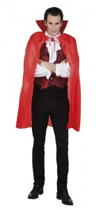 Cape de vampire halloween rouge taille adulte