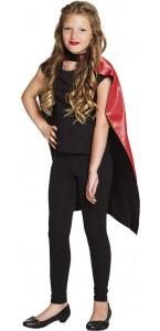 Cape enfant réversible rouge/noir Halloween 90 cm