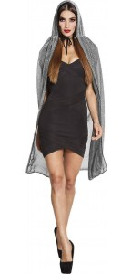 Cape Night sky argent Halloween 140 cm
