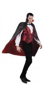 Cape reversible Blooslust Halloween noire/rouge