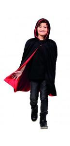 Cape reversible rouge/noire Halloween enfant