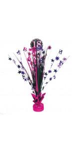 Centre de table Sparkling Celebration rose 18 ans 45,7 cm
