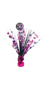 Centre de table Sparkling Celebration rose 50 ans 45,7 cm