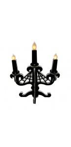 Chandelier toile d'araignée lumineux à led Halloween 43 cm