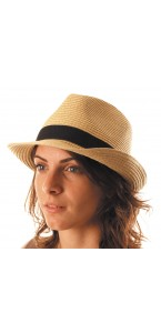 Chapeau borsalino fedora beige