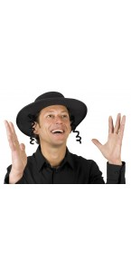 Chapeau de rabbin feutre noir
