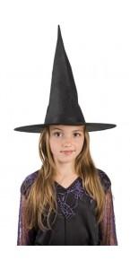 Chapeau de sorcière halloween noir taille enfant premier prix