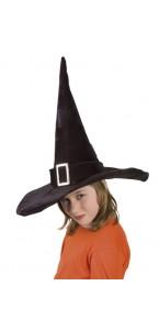 Chapeau de sorcière hallowen enfant velours noir
