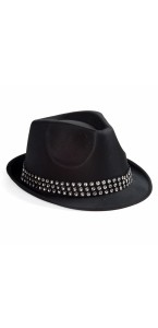 Chapeau Diamands noir