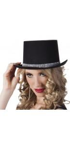 Chapeau gala diamond noir