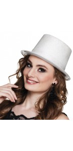 Chapeau Glitter Blanc