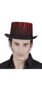 Chapeau noir avec coulures de sang Halloween