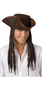 Chapeau Pirate Pirate Joe avec deeadlocks